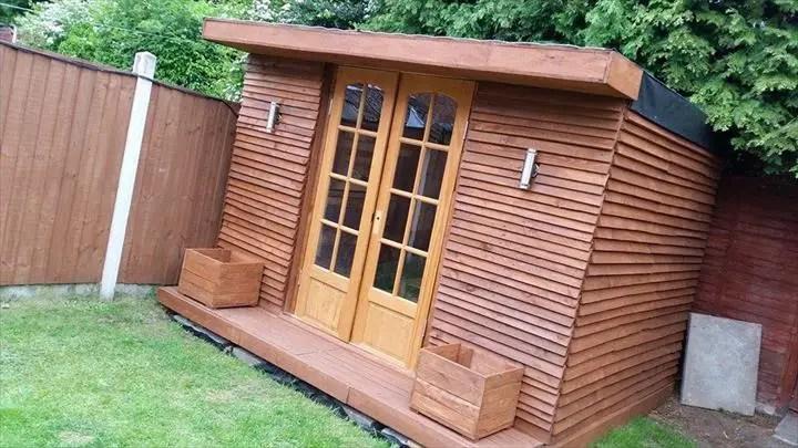 case construite din paleti Wood pallet houses 8