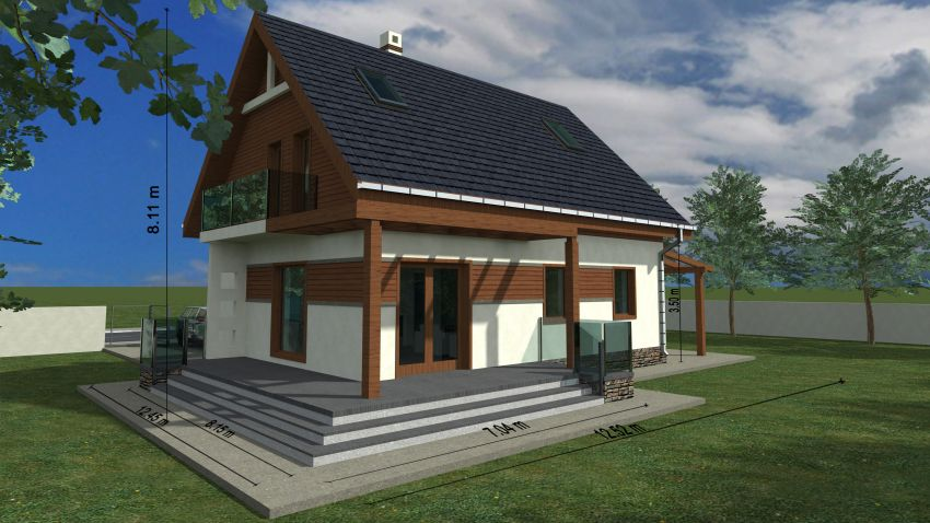 case cu mansarda si balcon Houses with attic and balconies 4