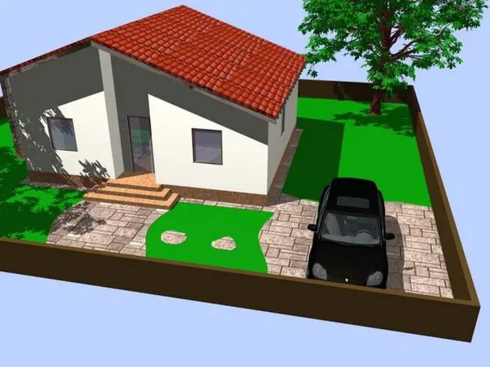 Case din panouri din lemn - design simplu, spatiu suficient