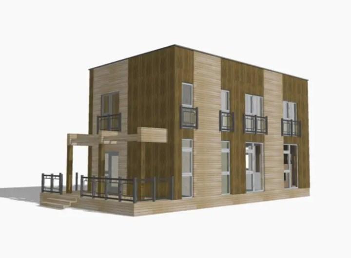 case din panouri din lemn wood panel house plans 8