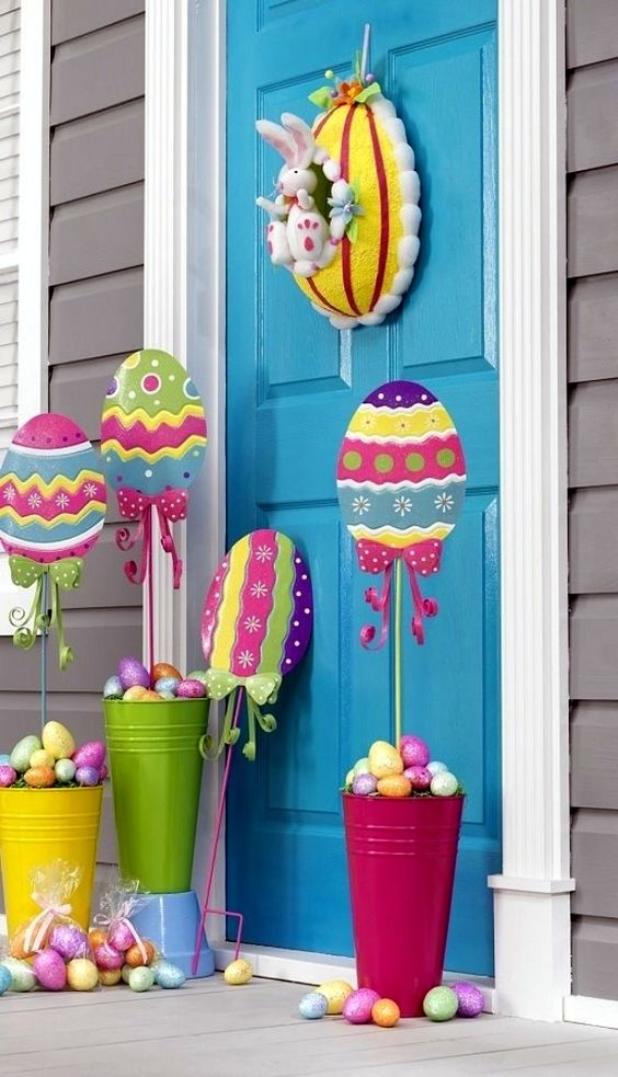 decoratiuni de paste in gradina Outdoor Easter decorations 1