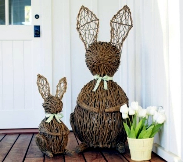 decoratiuni de paste in gradina Outdoor Easter decorations 6