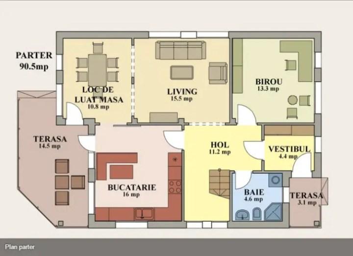 case cu fatada din piatra Houses with stone veneer facades 11
