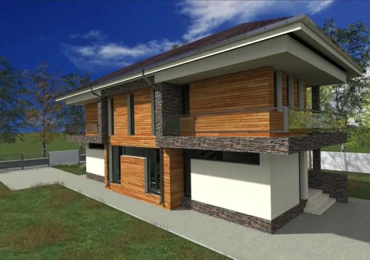 case cu fatada din piatra Houses with stone veneer facades 2
