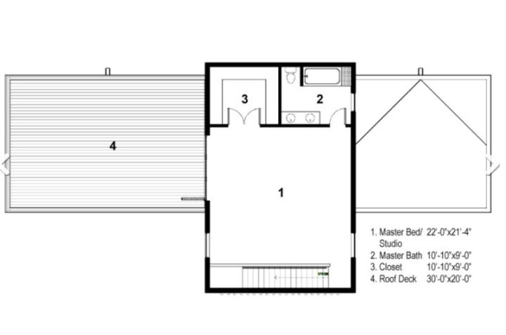 case in forma de T T shaped house plans 4