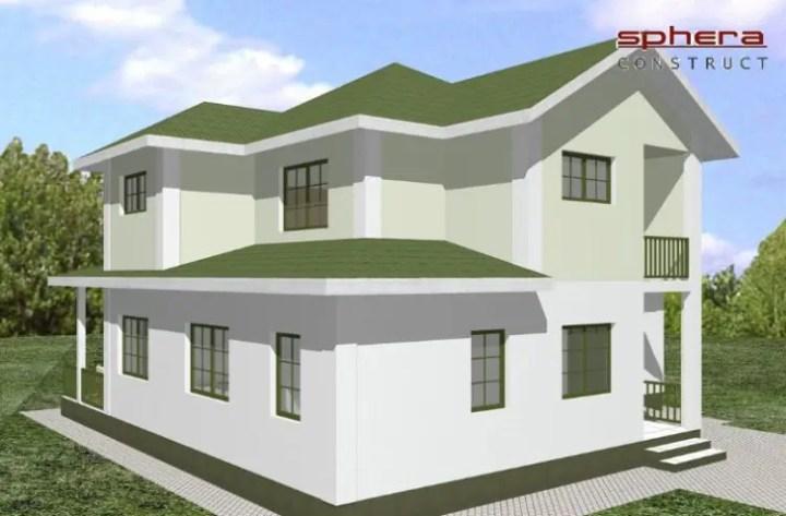 case mici cu garaj si mansarda Small houses with attic and garage 10