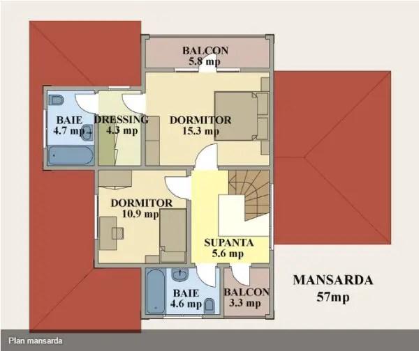 case mici cu garaj si mansarda Small houses with attic and garage 13