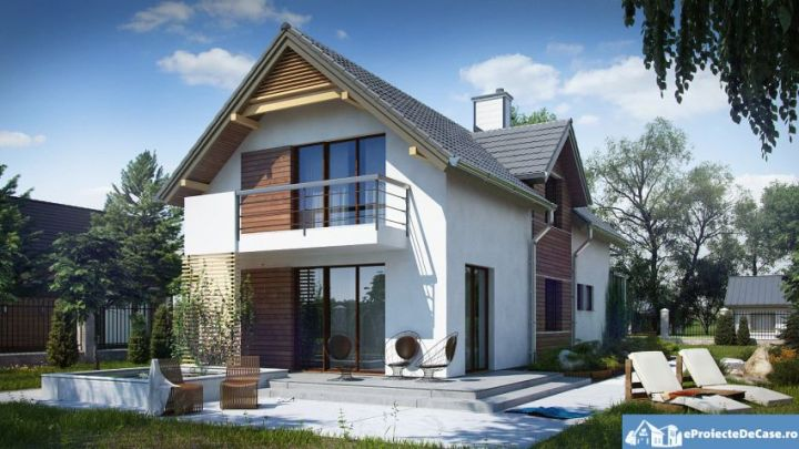 case mici cu garaj si mansarda Small houses with attic and garage 3
