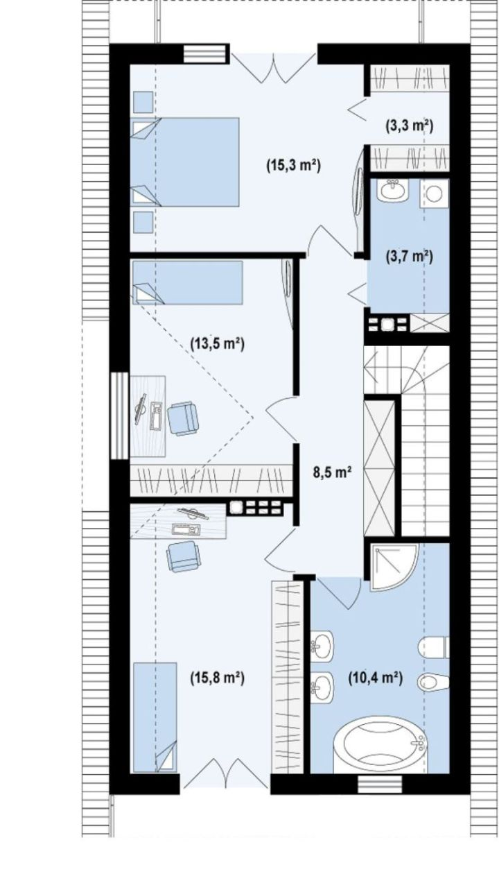 case mici cu garaj si mansarda Small houses with attic and garage 5