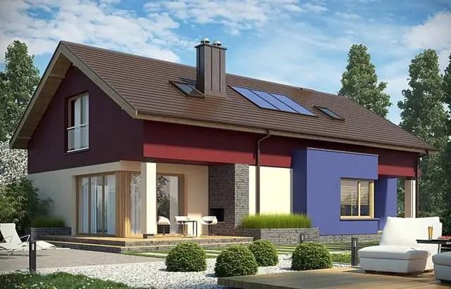 case mici cu garaj si mansarda Small houses with attic and garage 6