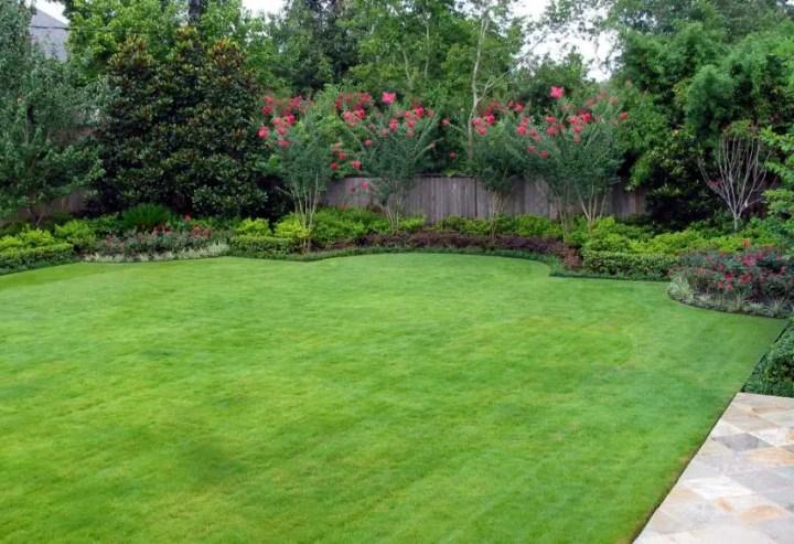 gradini amenajate cu gazon si flori Flower and lawn landscaping ideas 3