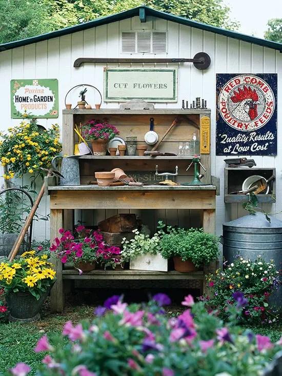 gradini rustice cu flori Rustic flower gardens 5