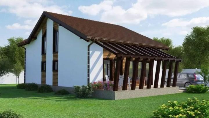 Proiecte de case cu etaj mansardat - contraste superbe la exterior