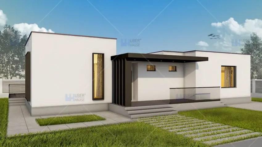 3 proiecte de case fara etaj cu 2 dormitoare case practice for Case in metallo stile ranch