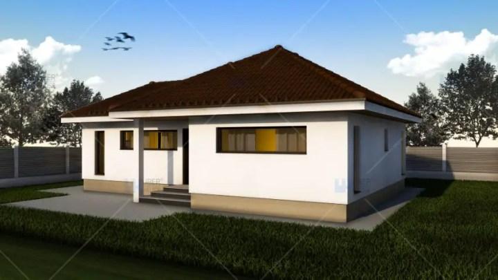 proiecte de case mici pe un singur nivel Small single level house plans 6