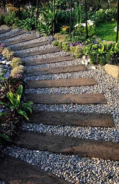 amenajarea gradinii cu pietris Pebble garden decoration ideas 16