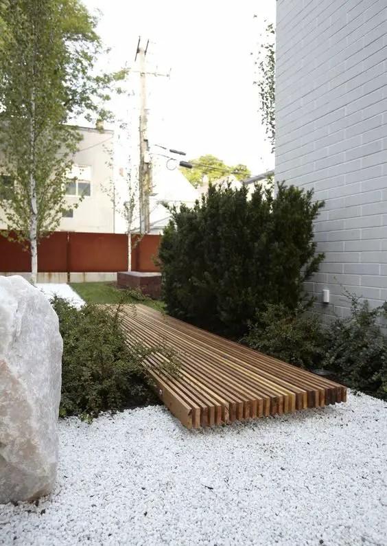 amenajarea gradinii cu pietris Pebble garden decoration ideas 25