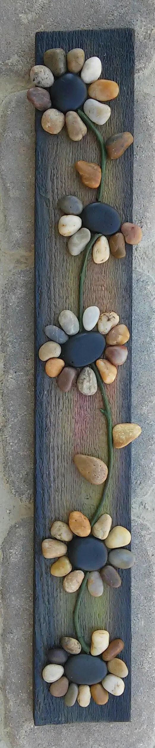 amenajarea gradinii cu pietris Pebble garden decoration ideas 6