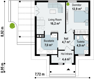 case cu doua camere two room house plans 3