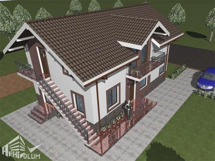 case cu mansarda si scara exterioara Attic houses with exterior stairs 4