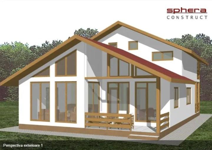 Case cu terasa in spate - vitraje generoase