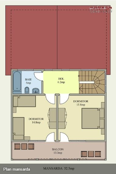 case cu terasa in spate Back patio house plans 14