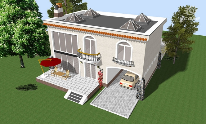 case cu terasa in spate Back patio house plans 2