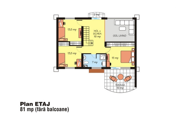 case cu terasa in spate Back patio house plans 4