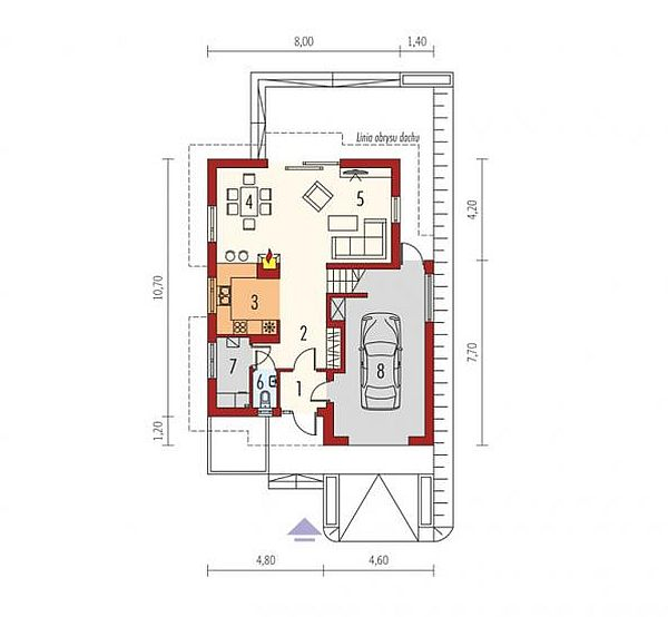 case cu terasa in spate Back patio house plans 8