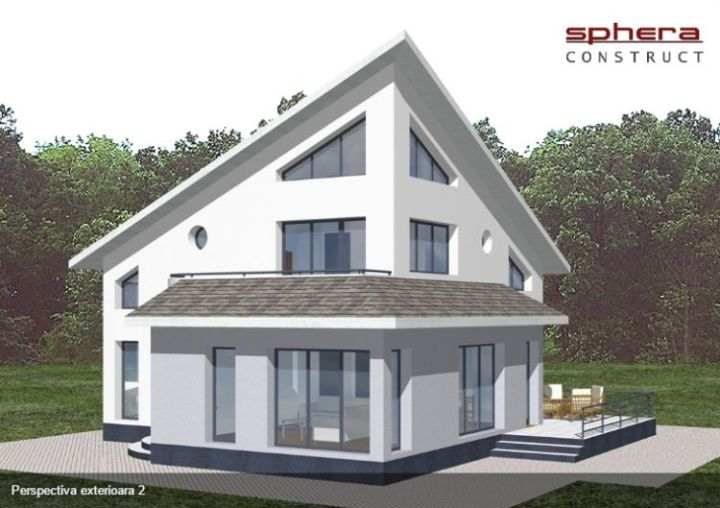 case medii cu mansarda Two story medium sized house plans 2