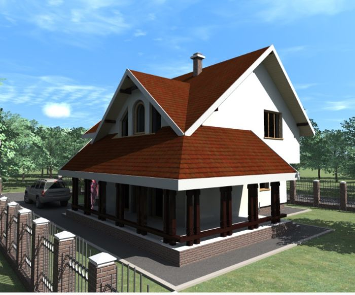 case medii cu mansarda Two story medium sized house plans 8