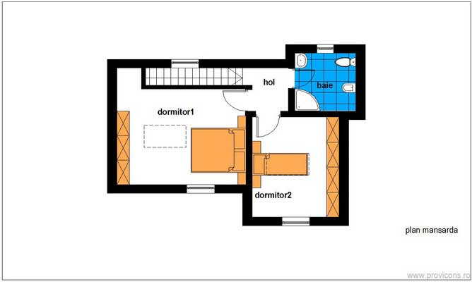 case mici de 60 de mp 60 square meter house plans 13