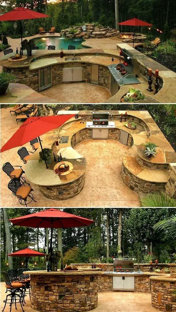 idei pentru bucataria de gradina Garden kitchen ideas 11