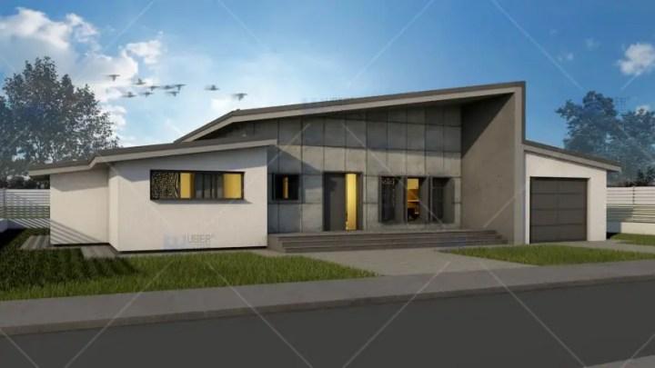 Modele de case cu open space - design modern