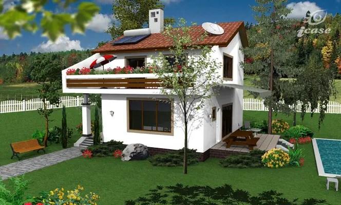 proiecte de case cu etaj sub 150 de metri patrati Two story houses under 150 square meters 7
