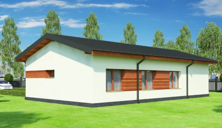 Proiecte de case cu parter si 3 dormitoare - mica, dar spatioasa