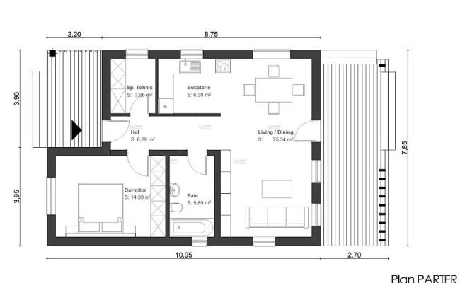 60 70 Square Meter House Plans Houz Buzz