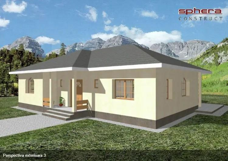3 proiecte de case fara etaj cu 2 dormitoare case practice for Proiect casa 2 camere living baie si bucatarie