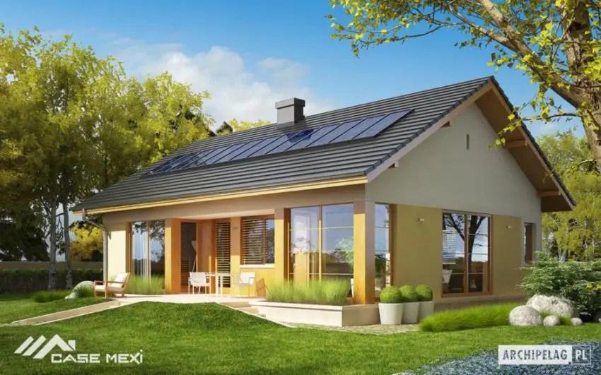 Proiecte de case fara etaj cu 2 dormitoare - arhitectura moderna