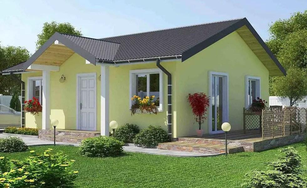 3 proiecte de case fara etaj cu 2 dormitoare case practice