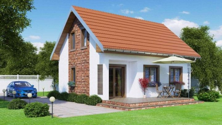Proiecte de case intre 100 si 160 de mp - contraste fine