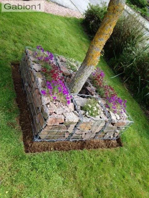 Amenajarea gradinii cu gabioane Gabion garden landscaping ideas 1