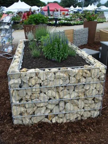 Amenajarea gradinii cu gabioane Gabion garden landscaping ideas 11