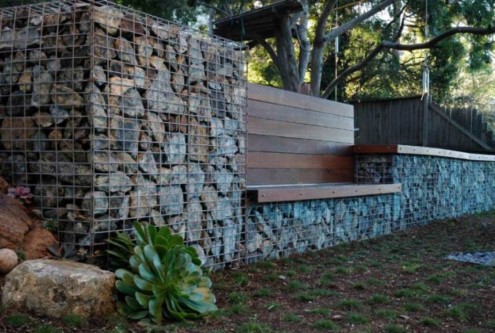 Amenajarea gradinii cu gabioane Gabion garden landscaping ideas 3