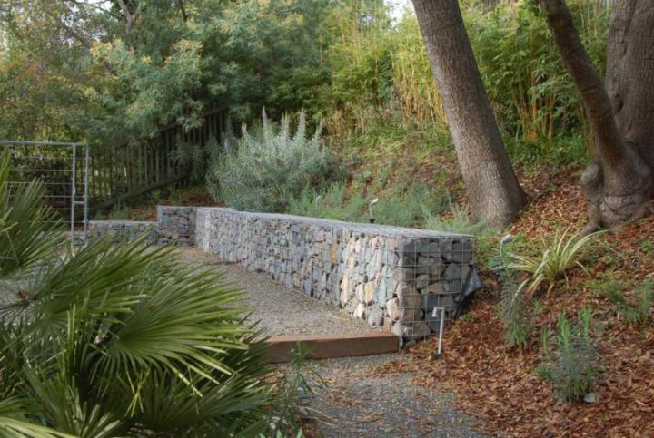 Amenajarea gradinii cu gabioane Gabion garden landscaping ideas 4