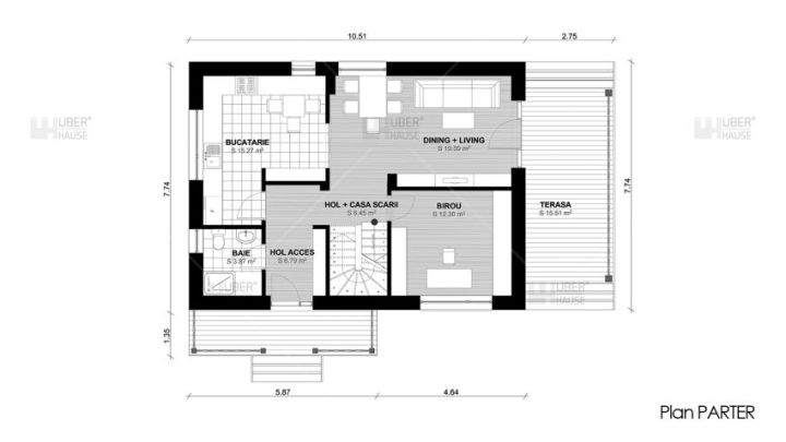 Case de vacanta cu mansarda Two story holiday homes 13