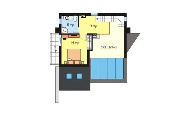 Case de vacanta cu mansarda Two story holiday homes 4