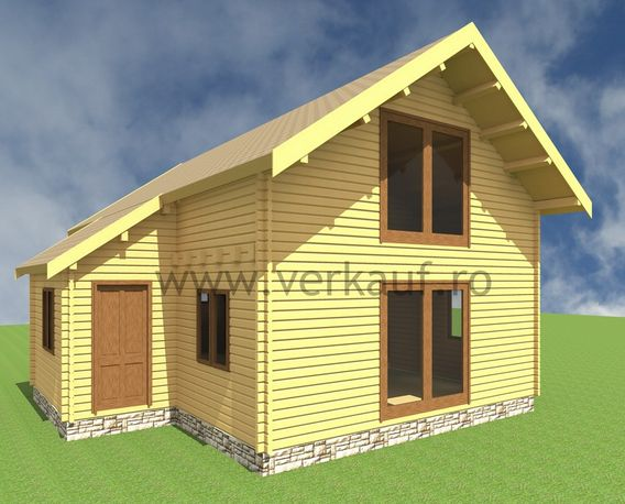 Case din grinzi chertate beam houses 11