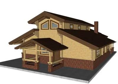 Case din grinzi chertate beam houses 2