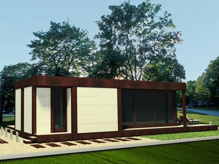 Case din lemn demontabile - design modern